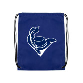 Royal Drawstring Backpack-Mascot Head