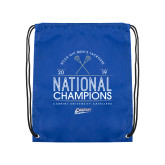 Royal Drawstring Backpack-2019 National Mens Lacrosse Champions