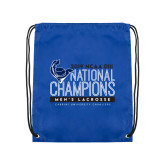 Royal Drawstring Backpack-2019 Mens Lacrosse NCAA DIII Champions
