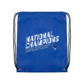 Royal Drawstring Backpack-2019 NCAA DIII Mens Lacrosse Champions