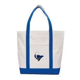 Contender White/Royal Canvas Tote-Mascot Head