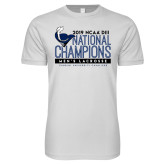 Next Level SoftStyle White T Shirt-2019 Mens Lacrosse NCAA DIII Champions