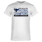 White T Shirt-2019 Mens Lacrosse NCAA DIII Champions