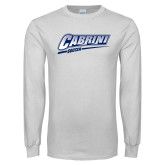 White Long Sleeve T Shirt-Cabrini Soccer