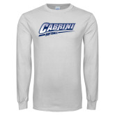White Long Sleeve T Shirt-Cabrini Softball