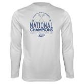 Performance White Longsleeve Shirt-2019 National Mens Lacrosse Champions