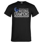 Black T Shirt-2019 Mens Lacrosse NCAA DIII Champions