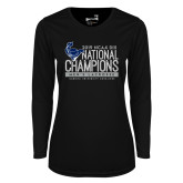 Ladies Syntrel Performance Black Longsleeve Shirt-2019 Mens Lacrosse NCAA DIII Champions