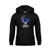 Youth Black Fleece Hoodie-Mascot Cabrini Cavaliers