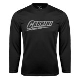Performance Black Longsleeve Shirt-Primary Logo