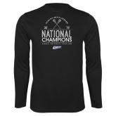 Performance Black Longsleeve Shirt-2019 National Mens Lacrosse Champions