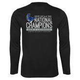 Performance Black Longsleeve Shirt-2019 Mens Lacrosse NCAA DIII Champions