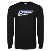 Black Long Sleeve T Shirt-Cabrini Softball