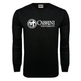 Black Long Sleeve TShirt-Cabrini University Mark