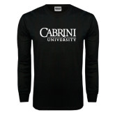Black Long Sleeve TShirt-Cabrini University Stacked