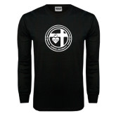 Black Long Sleeve TShirt-Cabrini University Seal