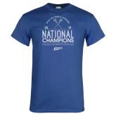 Royal T Shirt-2019 National Mens Lacrosse Champions