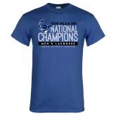 Royal T Shirt-2019 Mens Lacrosse NCAA DIII Champions