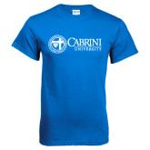 Royal T Shirt-Cabrini University Mark