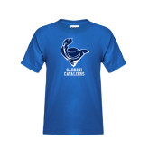 Youth Royal T Shirt-Mascot Cabrini Cavaliers