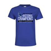 Youth Royal T Shirt-2019 Mens Lacrosse NCAA DIII Champions