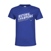 Youth Royal T Shirt-2019 NCAA DIII Mens Lacrosse Champions