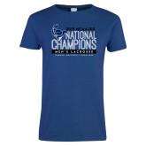 Ladies Royal T Shirt-2019 Mens Lacrosse NCAA DIII Champions