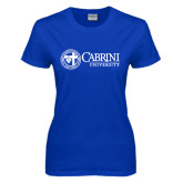 Ladies Royal T Shirt-Cabrini University Mark