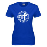 Ladies Royal T Shirt-Cabrini University Seal