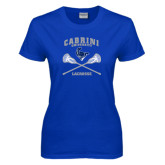 Ladies Royal T Shirt-Lacrosse Crossed Sticks