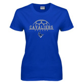 Ladies Royal T Shirt-Soccer on Top
