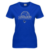 Ladies Royal T Shirt-Volleyball on Top