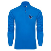 Syntrel Royal Blue Interlock 1/4 Zip-Mascot Head