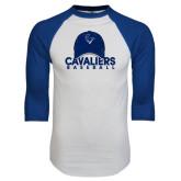 White/Royal Raglan Baseball T Shirt-Baseball Cap