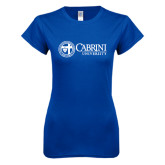 Next Level Ladies SoftStyle Junior Fitted Royal Tee-Cabrini University Mark
