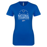 Next Level Ladies SoftStyle Junior Fitted Royal Tee-2019 National Mens Lacrosse Champions