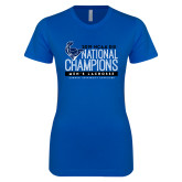 Next Level Ladies SoftStyle Junior Fitted Royal Tee-2019 Mens Lacrosse NCAA DIII Champions