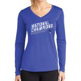 Ladies Syntrel Performance Royal Longsleeve Shirt-2019 NCAA DIII Mens Lacrosse Champions