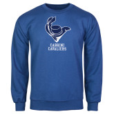 Royal Fleece Crew-Mascot Cabrini Cavaliers