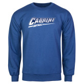 Royal Fleece Crew-Cabrini Softball