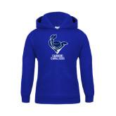 Youth Royal Fleece Hoodie-Mascot Cabrini Cavaliers