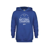Youth Royal Fleece Hoodie-2019 National Mens Lacrosse Champions