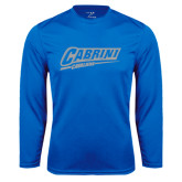 Performance Royal Longsleeve Shirt-Primary Logo