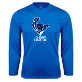 Performance Royal Longsleeve Shirt-Mascot Cabrini Cavaliers