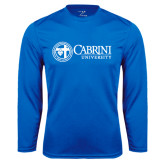Performance Royal Longsleeve Shirt-Cabrini University Mark