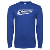 Royal Long Sleeve T Shirt-Cabrini Softball
