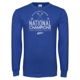 Royal Long Sleeve T Shirt-2019 National Mens Lacrosse Champions