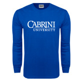 Royal Long Sleeve T Shirt-Cabrini University Stacked