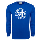 Royal Long Sleeve T Shirt-Cabrini University Seal