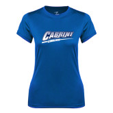 Ladies Syntrel Performance Royal Tee-Primary Logo